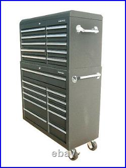 06 US PRO Tools Black Steel Chest Box Snap Up cabinet tool box FINANCE AVAILABLE