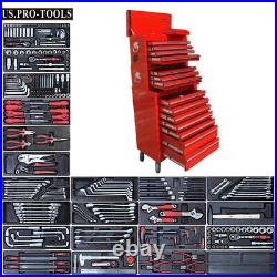 165 US Pro Tool Black steel Chest Box roll cabinet kit with tools BUY ON FINANCE