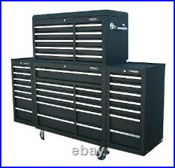 24 US PRO Tools Black Tool Chest Box Snap Up 2 side cabinet 75 finance option
