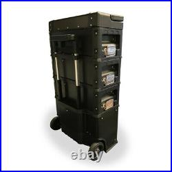 436 US PRO Tools Black Mobile Rolling Chest Trolley Cart cabinet Wheels Tool Box