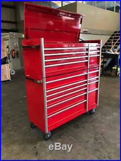 477 Us Pro Massive Tool Chest Cabinet Box Gloss Red Finance Available