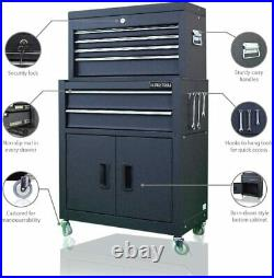 Authentic Original Us Pro Tools Large Blacktop Tool Chest Tool Cabinet Top Tool