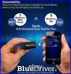 BlueDriver LSB2 Bluetooth Pro OBDII Scan Tool for iPhone & Android
