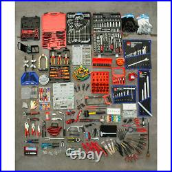 Hilka 1730 Piece Professional Mechanics Tool Kit with 15-Drawer Tool Chest