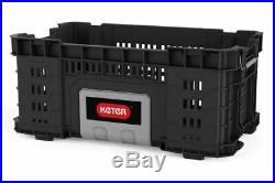 KETER Rigid System 4 BOXES Wheeled Professional Tool Storage Set of Tool Boxes
