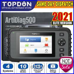 NEW! TOPDON PRO EU OBD2 Car Diagnostic Tool Auto Scanner Engine AT ABS SRS Reset