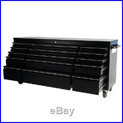 Pro Tool Cabinet Chest Box Black Bench 55/72inch Rolling Tool Storage Cabinet Uk