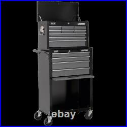 Sealey American Pro 13 Drawer Roller Cabinet and Tool Chest Black / Grey