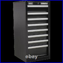 Sealey Superline Pro 8 Drawer Heavy Duty Cabinet Hang On Tool Chest Black