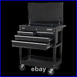 Sealey Superline Pro HD Mobile Tool/Parts Trolley 4 Drawer Lockable Top AP850MB