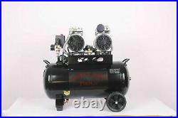 Silent Air Compressor 50 Litre Oil Free Low Noise 50L Dirty Pro Tools Rrp £349