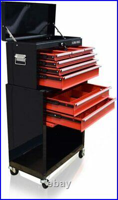 US PRO TOOLS BLACK RED AFFORDABLE TOOL CHEST BOX TOOL With DRAWER DIVIDER CABINET