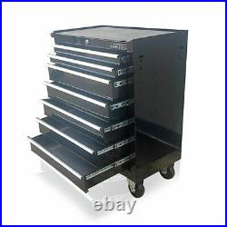 Us Pro Black Tools Affordable Steel Chest Tool Box Roller Cabinet 7 Drawers New