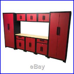 Us Pro Garage Storage System Tool Chest Cabinet Box Red / Black Finance Options
