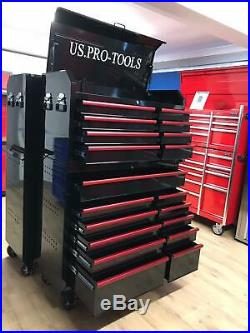 Us Pro Tool Chest Cabinet Box Heavy Duty Red Handles New For 2020