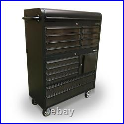 Us Pro Tools Tool Cabinet Chest Box Black + Stainless Steel 41 Finance Option